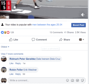 Facebook Boost Post Ad Example