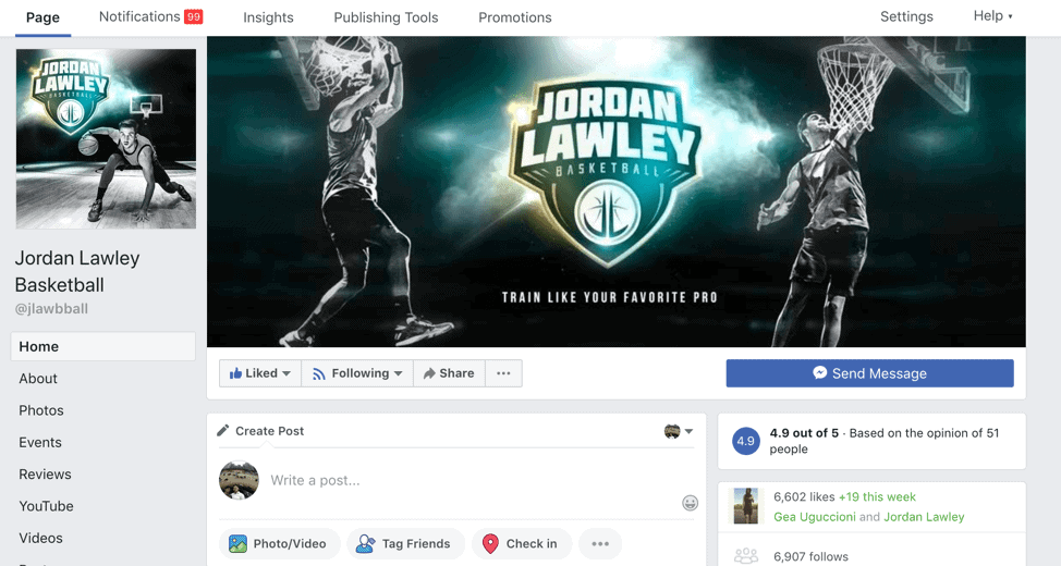 Create a Facebook Page First Steps